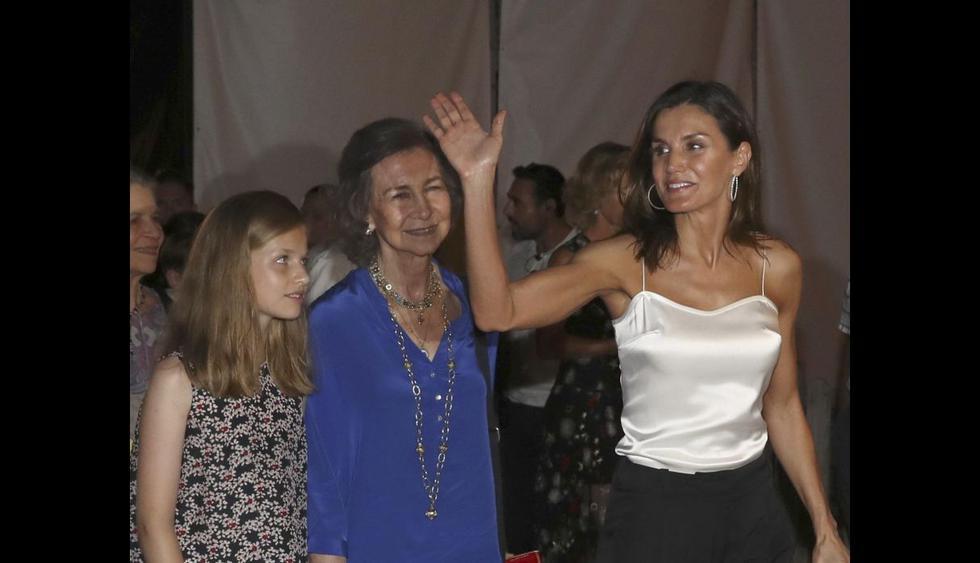Doña Sofía, sus nietas y la Reina Letizia (Foto: Agencias)