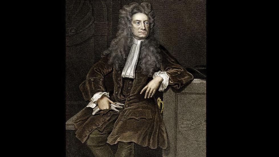 Isaac Newton y la manzana.