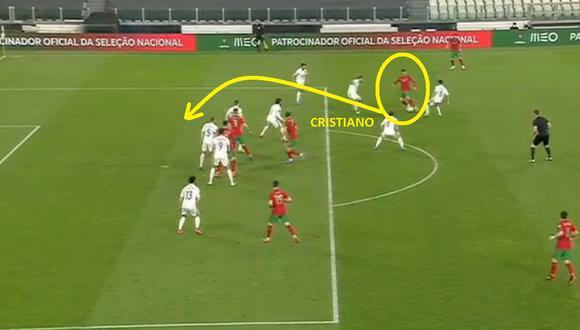 Cristiano Ronaldo y su tremendo pase con la selección de Portugal.