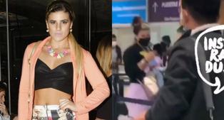 Macarena Vélez es captada en el aeropuerto dejando Lima, tras escándalo por indirectas a Ale Baigorria y Said Palao
