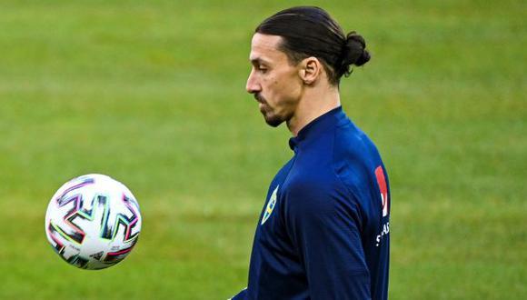 Zlatan Ibrahimovic, lesionado en una rodilla, baja para la Eurocopa. (Foto AFP)