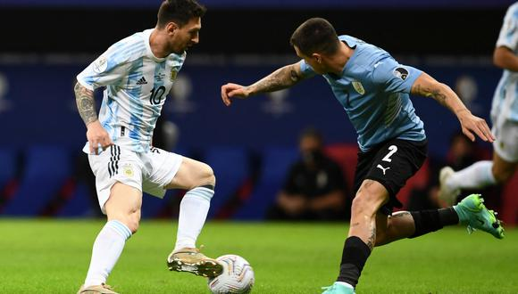 Lionel Messi fue la figura del Argentina vs Uruguay por la Copa América 2021. (AFP)