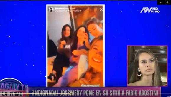 Jossmery Toledo afirma que Fabio está dolido porque ella y Mayra son amigas
