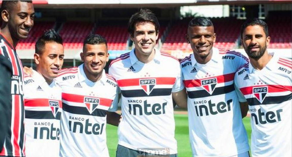 Kaká criticó a Christian Cueva durante presentación de la camiseta de Sao Paulo