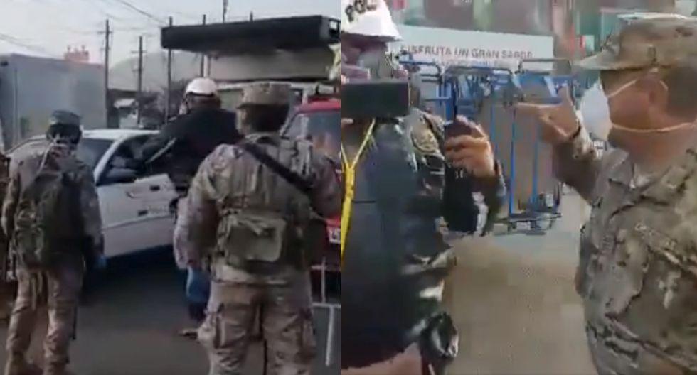 Un policía y varios militares tuvieron un cruce de palabras en Puente Nuevo. (Twitter)