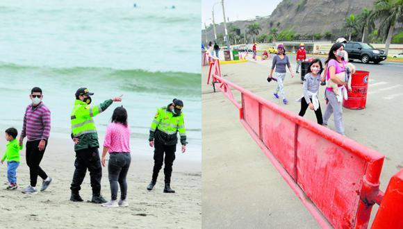 Decenas de personas abarrotaron la famosa playa de Chorrillos el pasado fin de semana   TROME