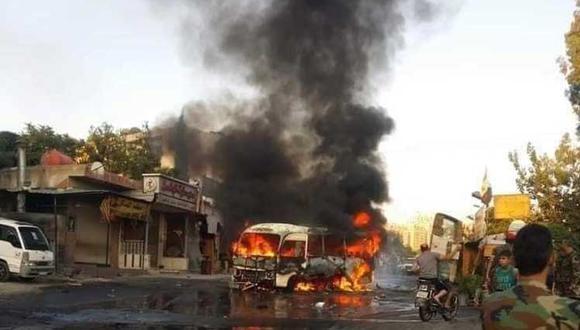 El pasado 4 de agosto militares y empleados de instituciones pertenecientes al Ministerio de Defensa de Siria perdieron la vida por un atentado explosivo contra su autobús. (Foto: Prensa Latina)