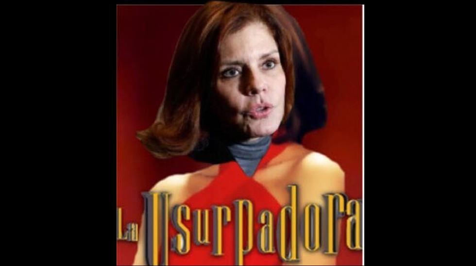 Memes Mercedes Aráoz tras juramentar como 'presidenta' en funciones en el Congreso de la República.