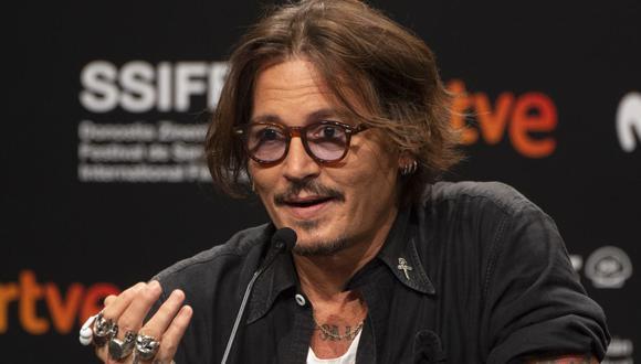 """El actor Johnny Depp presentó el  documental que él mismo produjo """"Crock of gold"""". (Foto: Ander Gillenea / AFP)"""