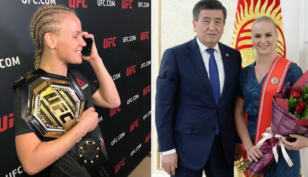 El presidente de Kirguistán llamó de inmediato a Valentina Shevchenko. (Facebook Valentina Shevchenko)
