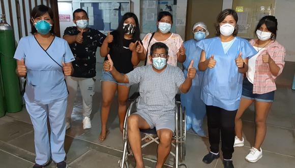 Ica: el recuperado Cayani señaló también que su condición era delicada, pero que afortunadamente logró superar con éxito la enfermedad, (Foto: Gore Ica)