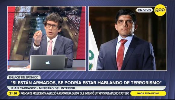 Juan Carrasco en declaraciones a RPP. (Foto: captura | RPPR)