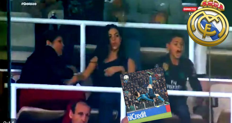 Novia de Cristiano Ronaldo festejó así  el golazo de CR7 en la Champions League
