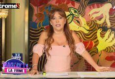 Magaly Medina sorprendió al realizar su programa de TV desde su casa por el coronavirus