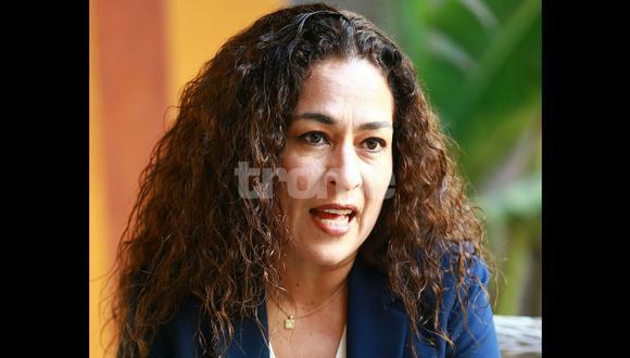 Cecilia Chacón tuvo declaraciones picantes. (R. Bernal)