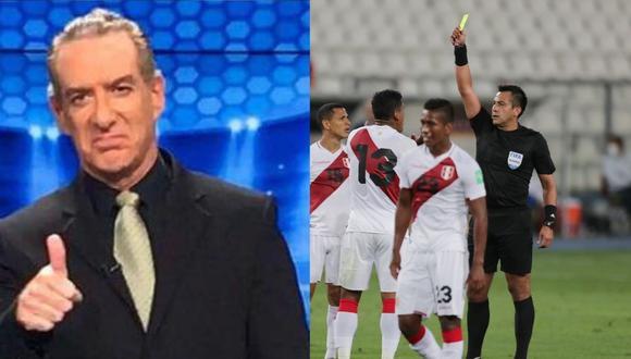 Eddie Fleischman no ocultó su indignación contra el árbitro Julio Bascuñán. (Redes sociales/ Agencias)