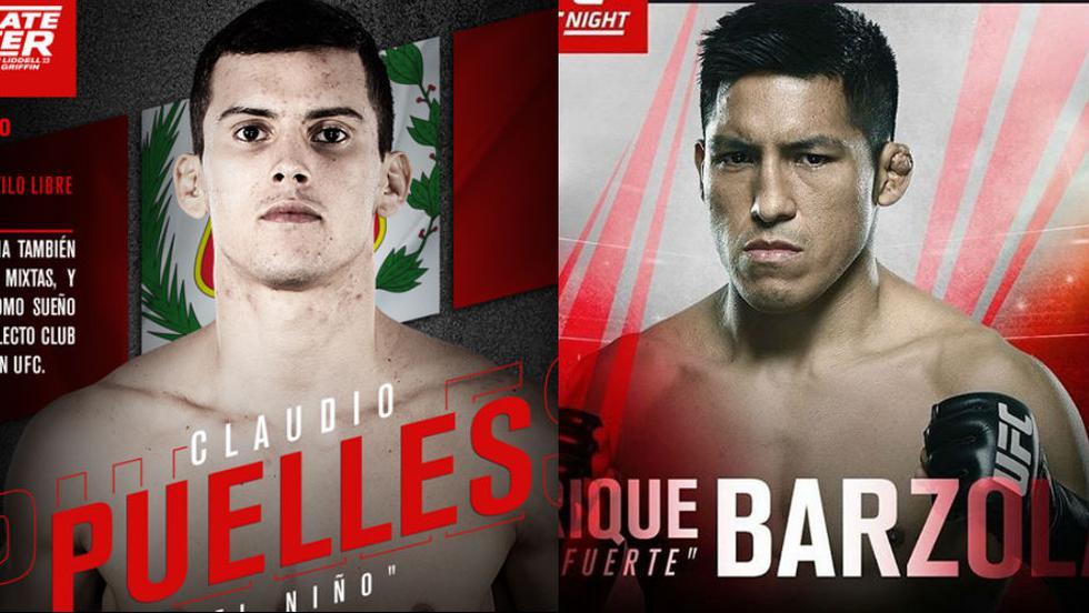 Por primera vez, dos peruanos en una cartelera del UFC. (UFC)