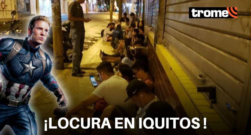 """Avengers: Endgame"": Fans de Iquitos madrugaron para conseguir entradas para el estreno (Foto: Loreto Informa News)"