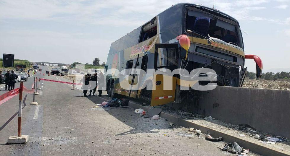 Ocho muertos en despiste de bus con delegación aprista en Huaura. Foto: Joseph Angeles