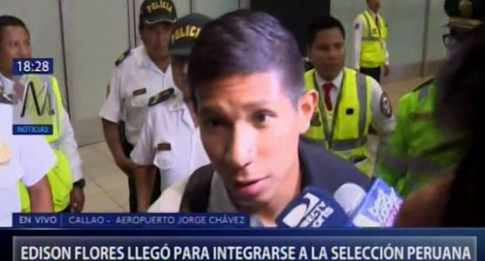 Edison Flores llegó a Lima y brindó declaraciones a la prensa.