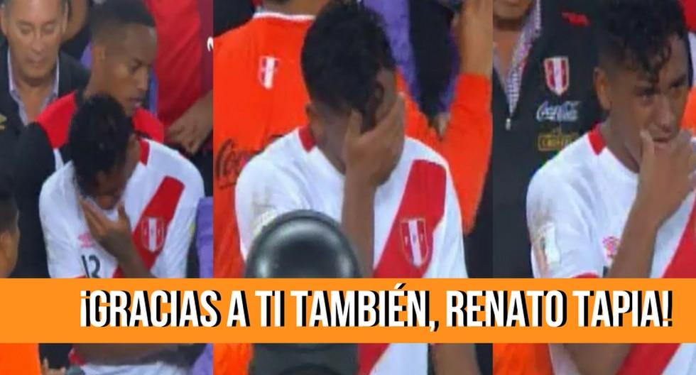 Emoción de Renato Tapia