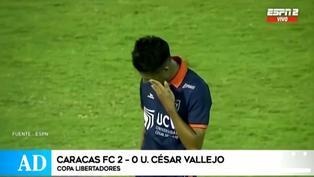 Con Beto Da Silva en cancha, Vallejo cerró su participación en la Libertadores tras perder ante Caracas FC