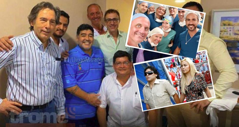 Maradona fue operado con éxito y recibió alta en medio de este escándalo amoroso.