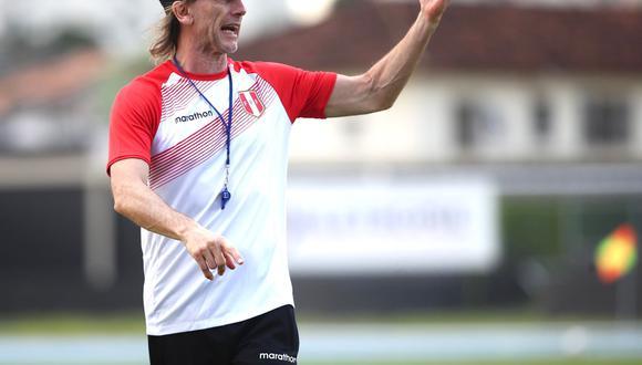 El entrenador Ricardo Gareca dará su charla técnica a las 3:30 de la tarde. El Perú vs. Brasil se jugará a las 7:00 de la noche. (Foto: Selección peruana)