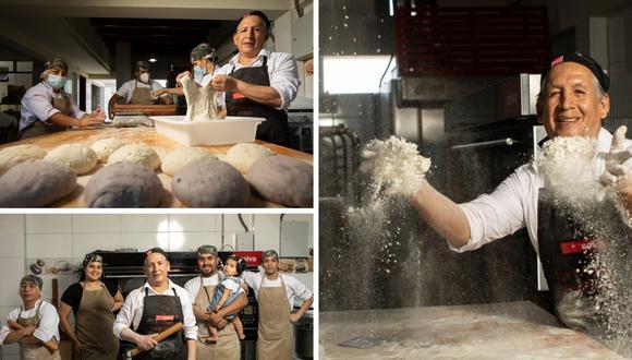 Don Gregor Policarpo y su hijo José iniciaron un negocio de panadería saludable con granos andinos y masa madre.