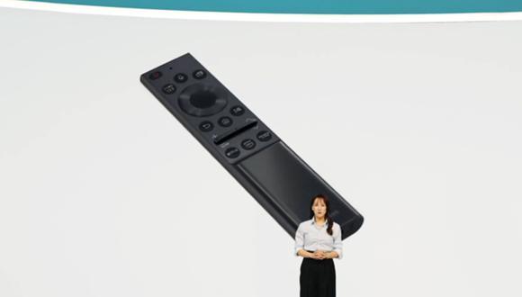 Samsung lanza un control remoto que no usa pilas y es capaz de cargarse con energía solar en el CES 2021. (Foto: Samsung)