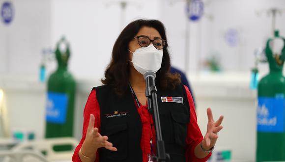La presidenta del Consejo de Ministros, Violeta Bermúdez, sostuvo que se investiga la pérdida de 17 vacunas Pfizer en la región Arequipa.  (Foto: Archivo de GEC)