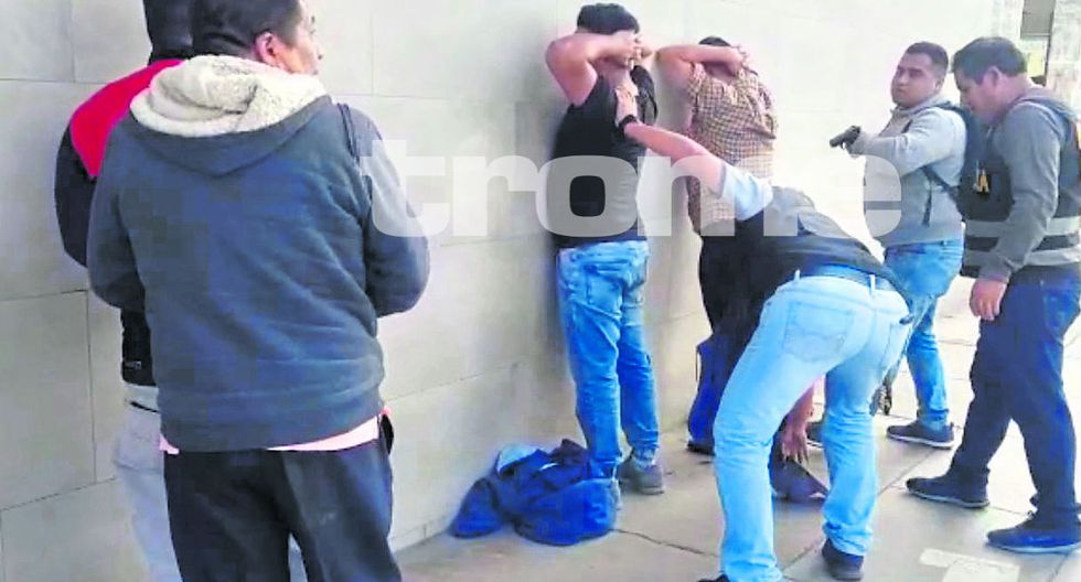Delincuentes fueron atrapados por la Policía. (GEC)