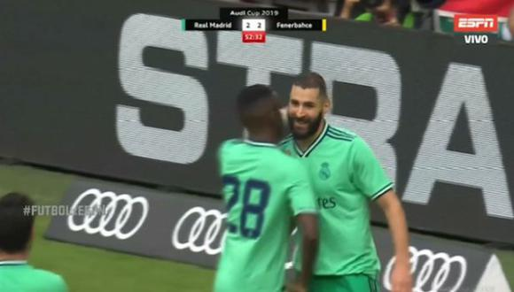 Real Madrid: Benzema anotó triplete ante Fenerbahce por la Audi Cup ¡GOLAZO!
