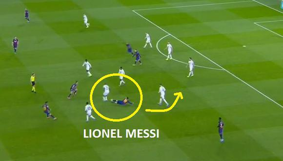Para alegría de Granada, el tiro libre de Messi no terminó en gol