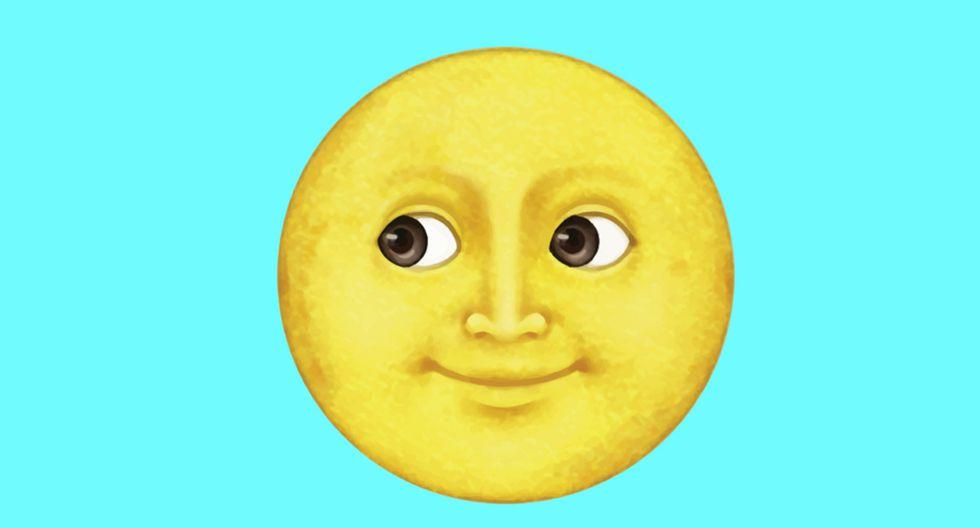 Te quedarás consternado al conocer el real significado de la luna amarilla sonriente de WhatsApp. (Foto: Emojipedia)