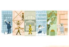 Google rinde homenaje con doodle a los trabajadores en su día