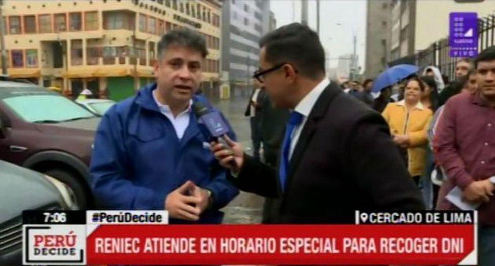 Jorge Puch, subgerente de Operaciones Registrales del Reniec, (Video: Latina)