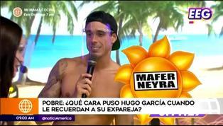 EBT: Hugo García reacciona de esta forma al recordarle a su expareja, Mafer Neyra