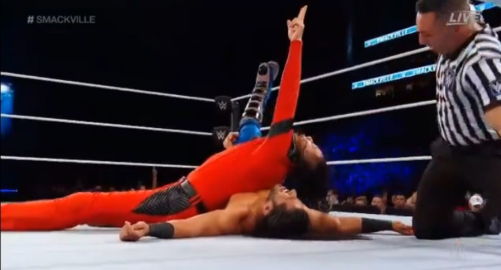 Shinsuke Nakamura continúa como el campeón Intercontinental de WWE. (Captura WWE)