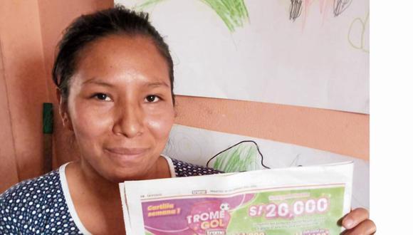 Elena Quispe, una mamita comerciante de San Juan de Lurigancho se llevó los 20 mil soles de Trome Gol