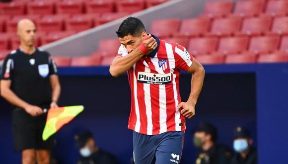 Primer gol de Luis Suárez con camiseta de Atlético Madrid