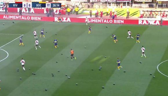 Globos negros en el RIver Plate vs Boca Juniors