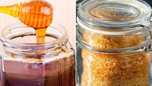 Tanto la miel de abeja como la panela son alternativas más sanas para darle dulzor a los alimentos o bebidas. (Foto: Matthias Böckel y ExplorerBob / Pixabay)