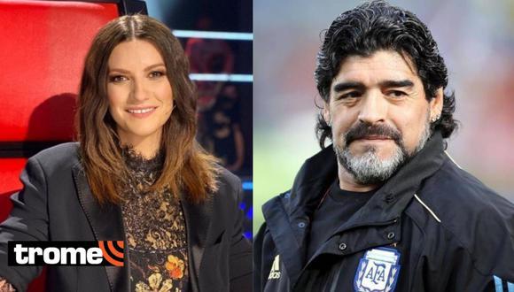 """Laura Pausini sobre Maradona: """"Un hombre buenísimo jugando a la pelota, pero de verdad poco apreciable"""""""