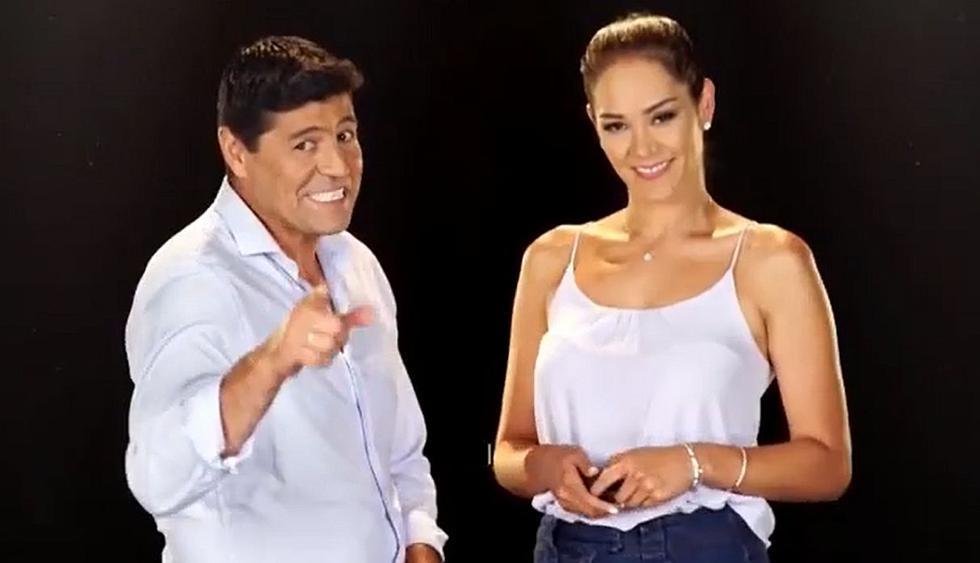 Sergio 'Checho' Ibarra y Karen Schwarz serán los encargados de dirigir el nuevo programa de Latina. (Foto: Captura de video)