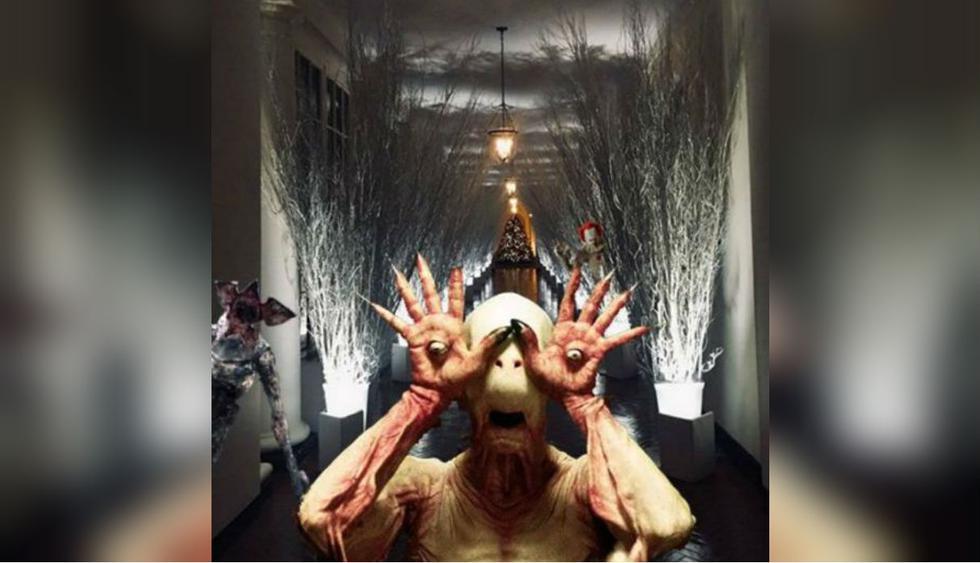 Memes decoración navideña de Melania Trump. Foto: Twitter