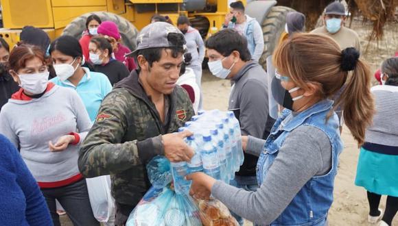 Áncash: efectúan cruzada para ayudar a damnificados por incendio en Nuevo Chimbote (Foto difusión)