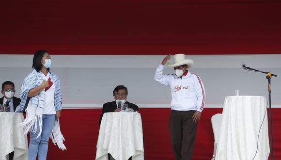 Keiko Fujimori (Fuerza Popular) y Pedro Castillo (Perú Libre).