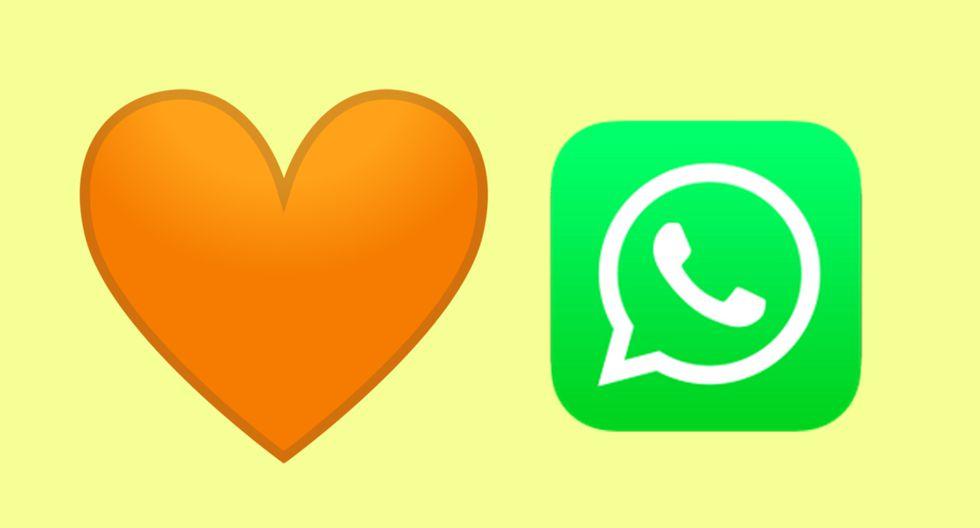 ¿Quieres saber qué significa el corazón naranja y en qué se diferencia de los demás que existen en WhatsApp? (Foto: Emojipedia)