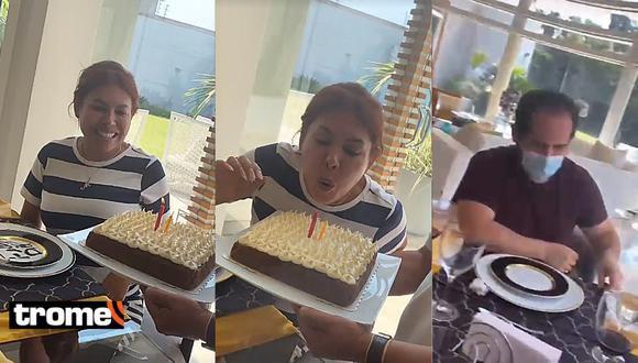 Magaly Medina celebró su cumpleaños junto a su hijo Gianmarco tras anunciar su separación con Alfredo Zambrano.